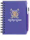BIC Plastic Cover Notebook W/ Matching Bic Media Clic Ice NPP57